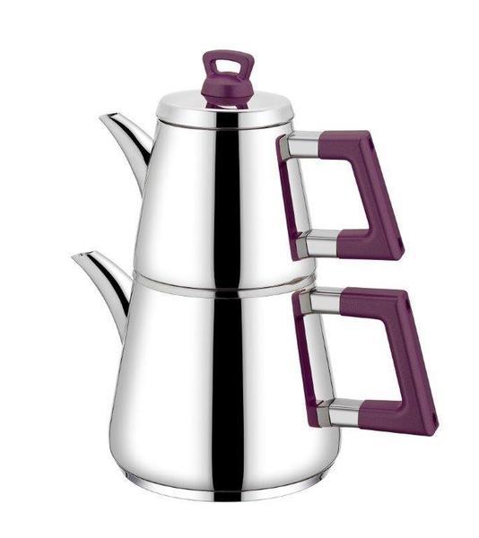 Neva Lidya Çaydanlık Takımı | Paslanmaz Çelik | Gümüş | N2664