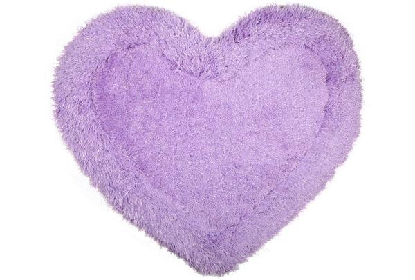Bavary Banyo ve Kapı Önü Paspası | Kalp Şekilli | by-Heart-Lila