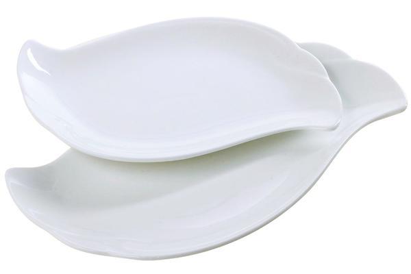 Duygu 2/4/6 Parça Servis Tabağı Oval Porselen | Beyaz | Dg-3418