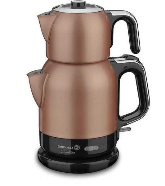 Korkmaz Çaytema RosaGold/Krom Elektrikli Çaydanlık | A331-02