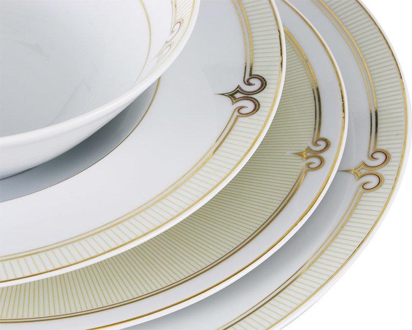 k tahya porzellan iris 87 teilig tafelservice tellerset essservice tafelset wei. Black Bedroom Furniture Sets. Home Design Ideas