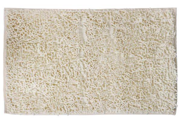 Bad Teppich Badmatte Badematten 80x50 cm Vorleger Flauschig Shaggy Garnitur Creme