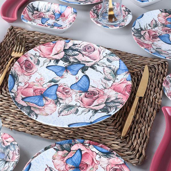 Butterfly Kahvaltı Takımı 19 Parça 4 Kişilik - 19161 | Keramika