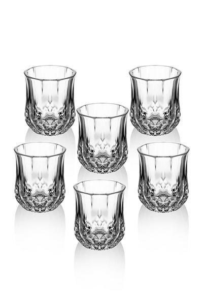 6 Adet Kristal Kesme Lüx Kahve Yanı Su & Likör Bardağı