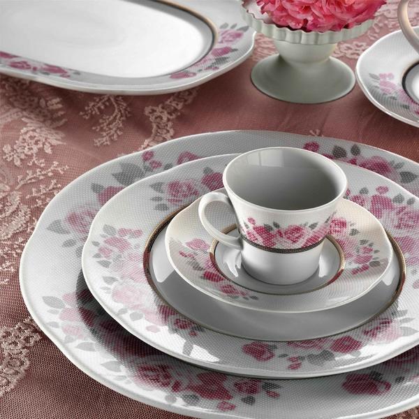 Kütahya Porselen Lindos 83 Parça Desen Yemek Takımı | Yuvarlak | 12 Kişilik | 62747