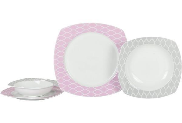 Tafel 6 Personen : Korkmaz gala collection porzellan 24 teilig tafelservice