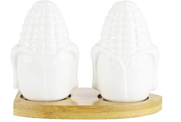 Duygu Bambu Tuzluk Biberlik Takımı Porselen | Dg-6219