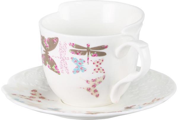 Neva Spring 12 Parca Fine Bone Porselan Çay Fincan Seti | N640