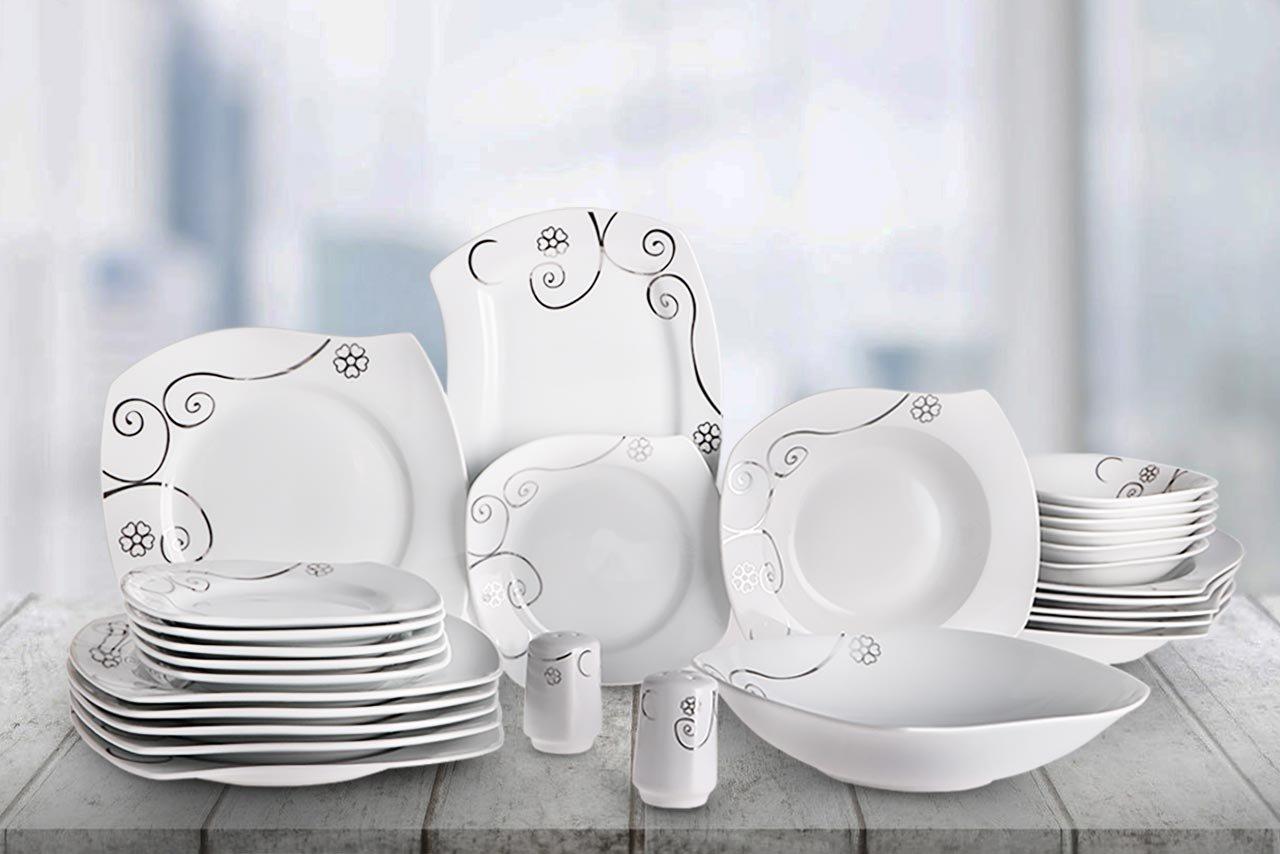beyazca liva 28 teilig porzellan essservice f r 6 personen bedibuy. Black Bedroom Furniture Sets. Home Design Ideas