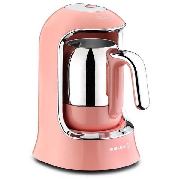Korkmaz Kahvekolik Otomatik Kahve Makinesi | Pembe | A860