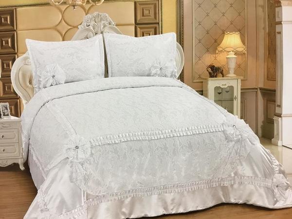 Almina Yatak Örtüsü Takımı 250x260 Beyaz