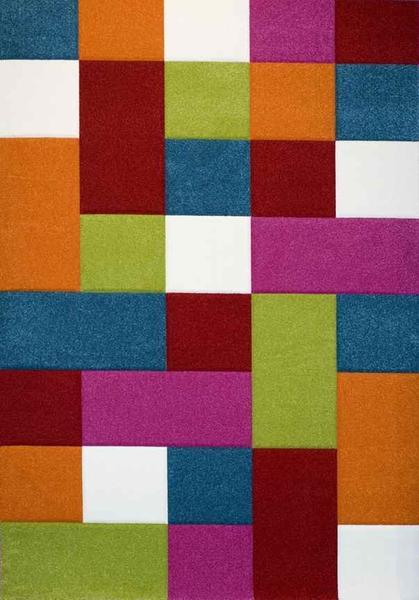 Merinos Diamond Kare Desenli Çocuk Odası Halısı | Renkli | 646-110-Multi