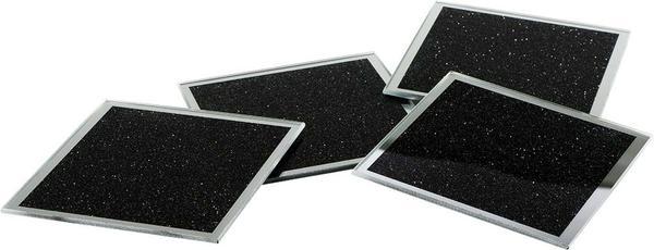 Dekonaz Kristal Kum Desenli Su Bardağı Altlığı   Siyah   10cm