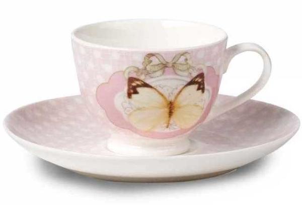 Korkmaz Country 6'lı Çay Fincan Takımı | Pembe | A8763