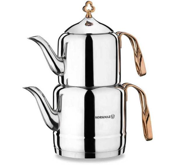 Korkmaz Çintemani 3.1 lt Çaydanlık Takımı| Paslanmaz Çelik | A212