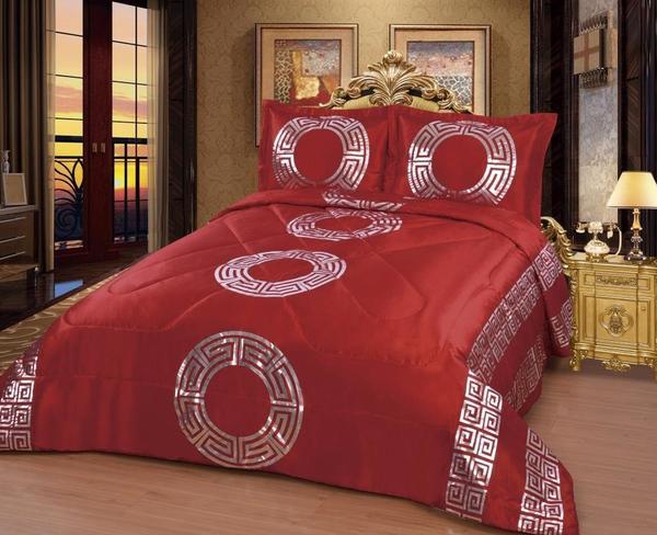 Dematex Saten Yatak Örtüsü Seti Sultan Kırmızı