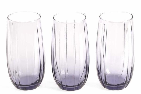 Paşabahçe 3 Parça Su Bardağı Seti | Mor | 420415