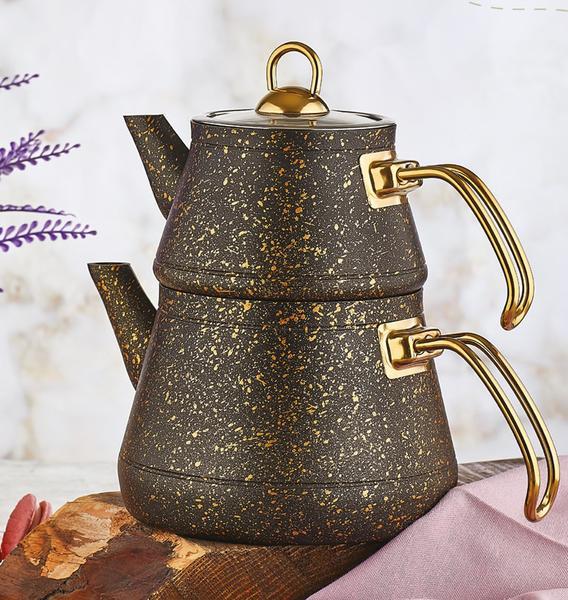 Siyah Elegance Granit Çaydanlık