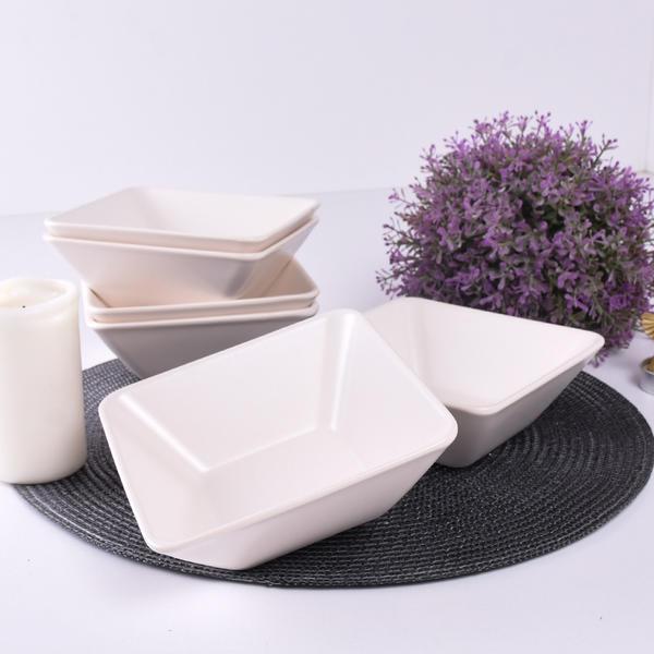Mat Kırık Beyaz Siera Çorba Kasesi 15 Cm 6 Adet | Keramika