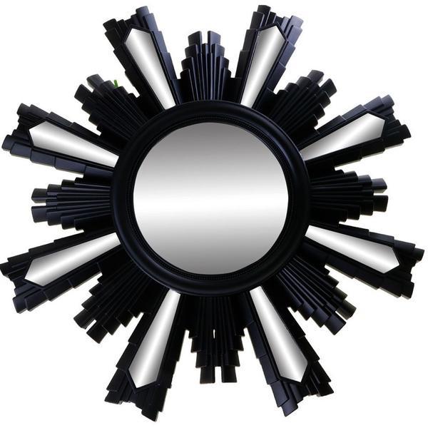 Dekonaz Modern Duvar Aynası XL Siyah