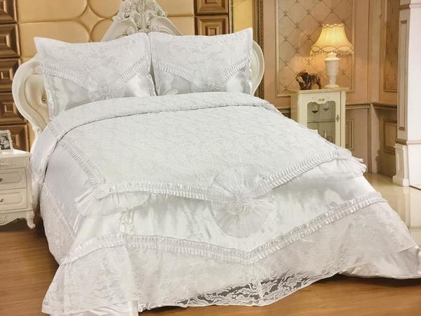 Almina Yatak Örtüsü Takımı | 250x260 Beyaz | Alm-0003