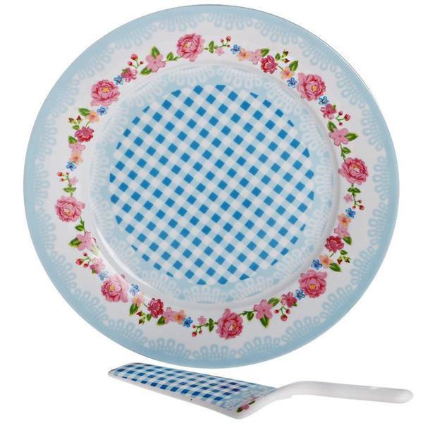 Paci Pasta Kek Servisi 2 Parça   Mavi   POR-100195