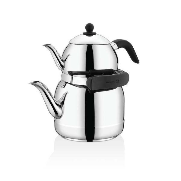 Korkmaz Ornella Çaydanlık Takımı | Paslanmaz Çelik | A220