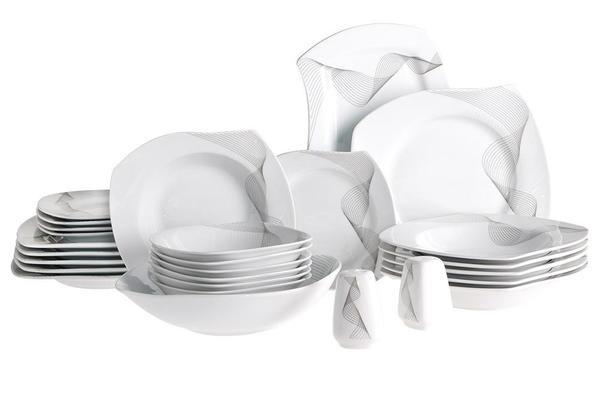 Beyazca Eda 26 Parça Porselen Yemek Takımı | 6 Kişilik