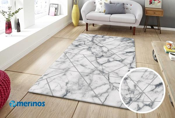 Merinos Craft Modern 3D Halı   Gri   23299-295-Grey