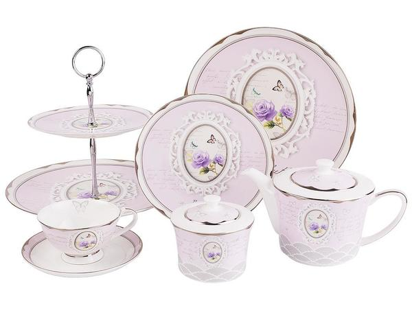 Taç 24 Parça 6'lı Çay Fincanı Pasta Seti Porselen