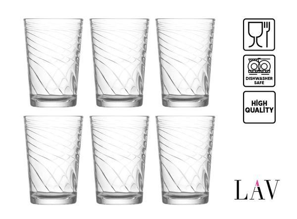 LAV Filiz 6 12 24 Parça Su Bardağı Seti   205ml