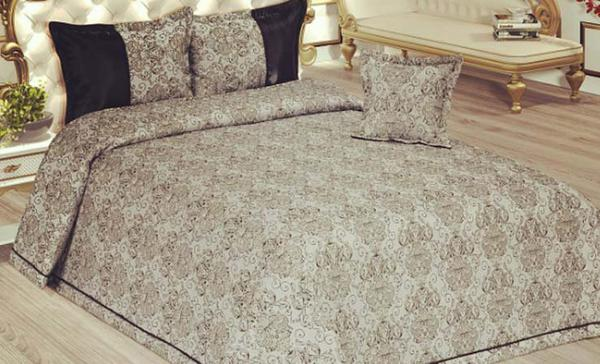 Trend Home Collection Yatak Örtü Seti | 4 Parça | Kahverengi | THC-027