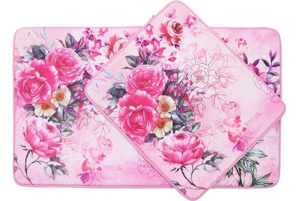 Almina Vintage Rose 2 Er Badematte Badteppich Badvorleger