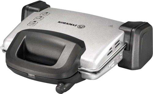 Korkmaz Kompakto Granit Midi Tost Makinesi Gri/Siyah | A312-05