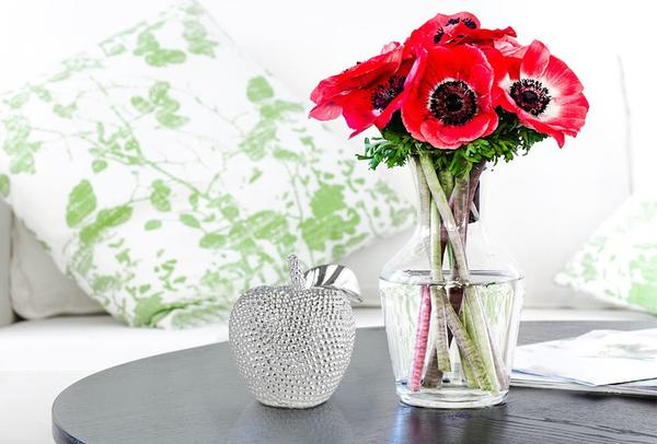 Dekonaz Dekoratif Elma Modeli Biblo | Gümüş | 12.5cm