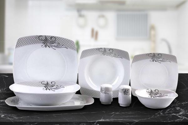 Schäfer 28 Parça Porselen Yemek Takımı Gümüş Desen | 6 Kişilik | 30987