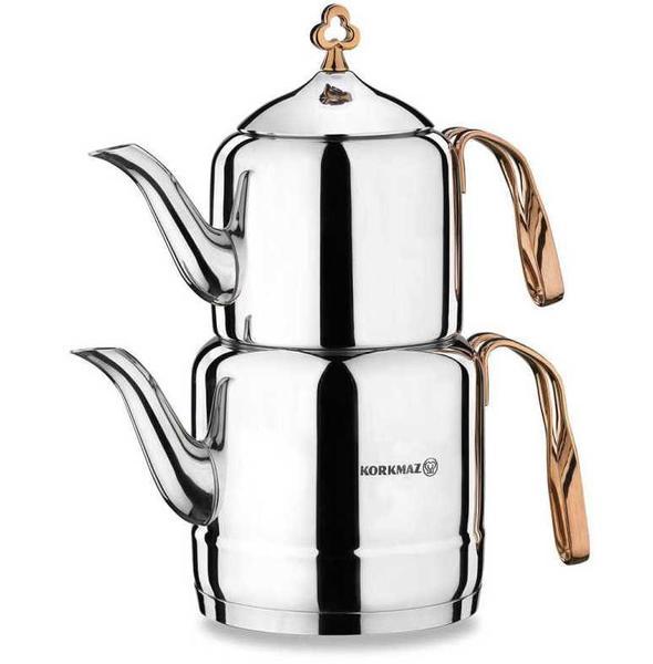 Korkmaz Çintemani Rosagold 3.1 lt Çaydanlık Takımı| Paslanmaz Çelik | A213
