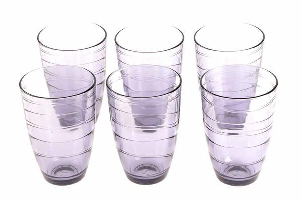 Paşabahçe Meksika 6 Parça Su Bardağı Seti | Mor | 360ml | 52460-Lila