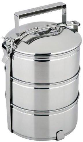 CS-KOCHSYSTEME 3 Katlı Sefer Tası - Yemek Kutusu  | Paslanmaz Çelik