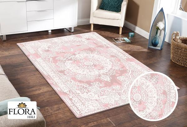 Flora Rhodos Collection Halı  | Pembe | F-6682-Pink