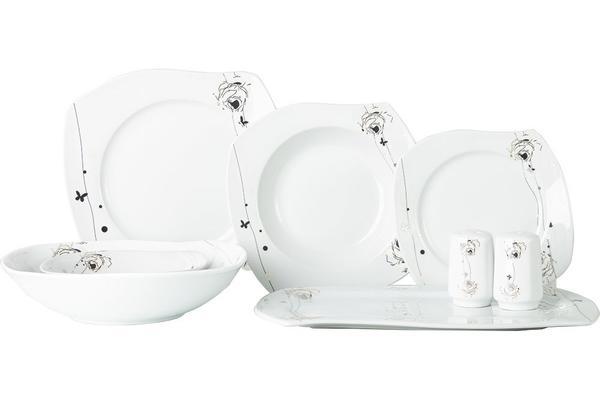Beyazca Zara 28 Parça Porselen Yemek Takımı | 6 Kişilik