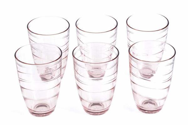 Paşabahçe Meksika 6 Parça Su Bardağı Seti | Pembe | 360ml | 52460-Rose