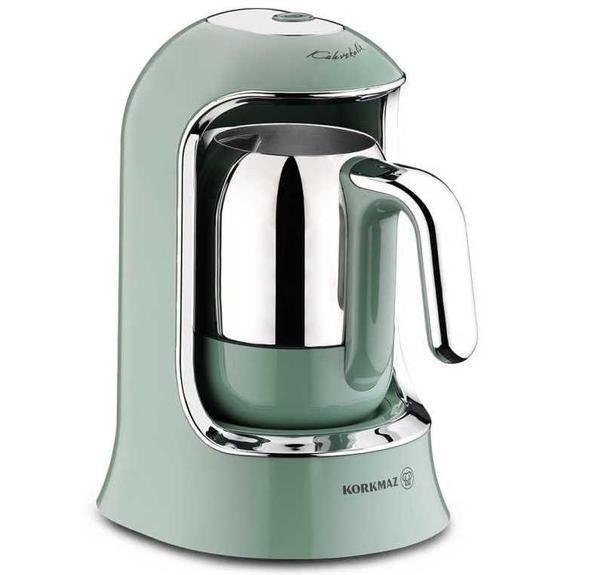 Korkmaz Kahvekolik Otomatik Kahve Makinesi | Turkuaz | A860-4