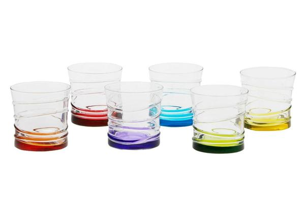 LAV Coral Ring 6 Parça Renkli Su Bardağı Seti | 320ml