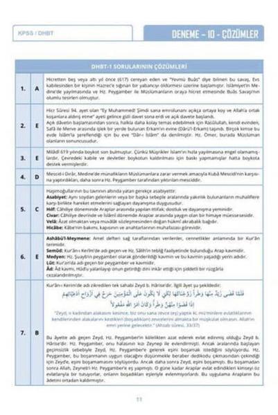 2020 DHBT Tafsilat Serisi Tüm Adaylar 10 Çözümlü Deneme