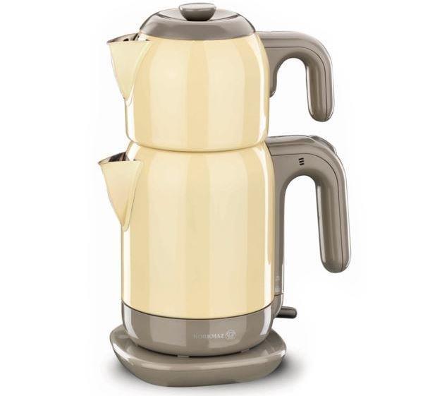 Korkmaz Demtez 2.7 lt. Elektrikli Çaydanlık   Sarı   a369-05