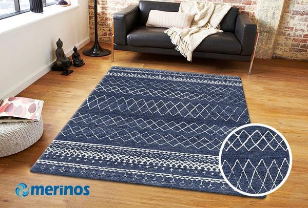 Merinos Indigo Desenli Halı | Mavi | 22381-335-Blue