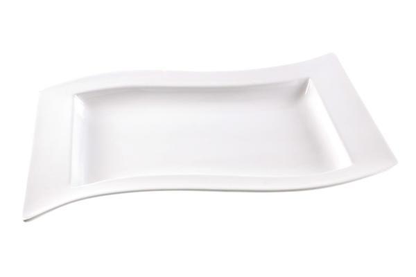 Çınar XL Servis Tabağı S-Form 40cm | Beyaz