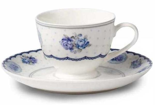 Korkmaz Country 6'lı Çay Fincan Takımı | Mavi | A8762
