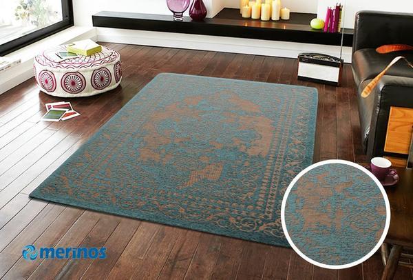 Merinos Marakesh Sweep Halı | Turkuaz | 1002-30-Turquoise